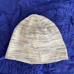 Lululemon Beanie with pony tail cut out